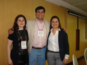 Dra. Ylllana Paiva (Diretoria SBDES), Dr. Leonardo Mello Ferreira (Presidente SBDES) e Dra. Brunela Pitanga (Palestrante ES)