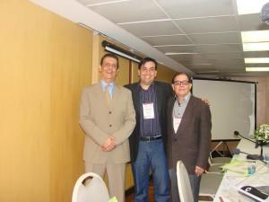 Doutores Paulo Sergio Emerich (Comissão Científica SBDES), Leonardo Mello Ferreira (Presidente SBDES) e Alberto de Paula Nogueira (Comissão Científica SBDES).
